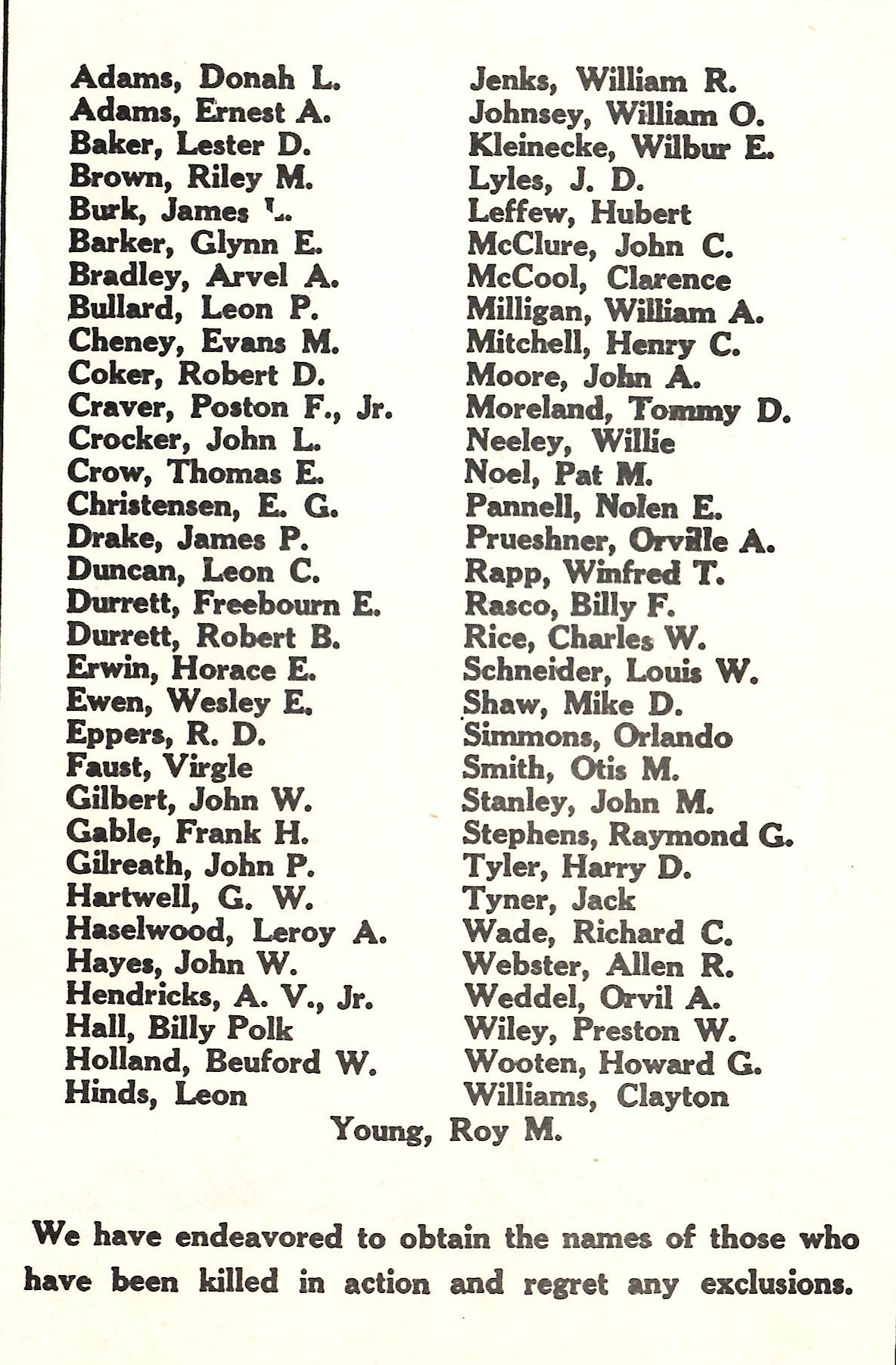 Men and women in the Armed Forces from Hall County Texas World War II 2 WW2 WWII Killed in Action KIA