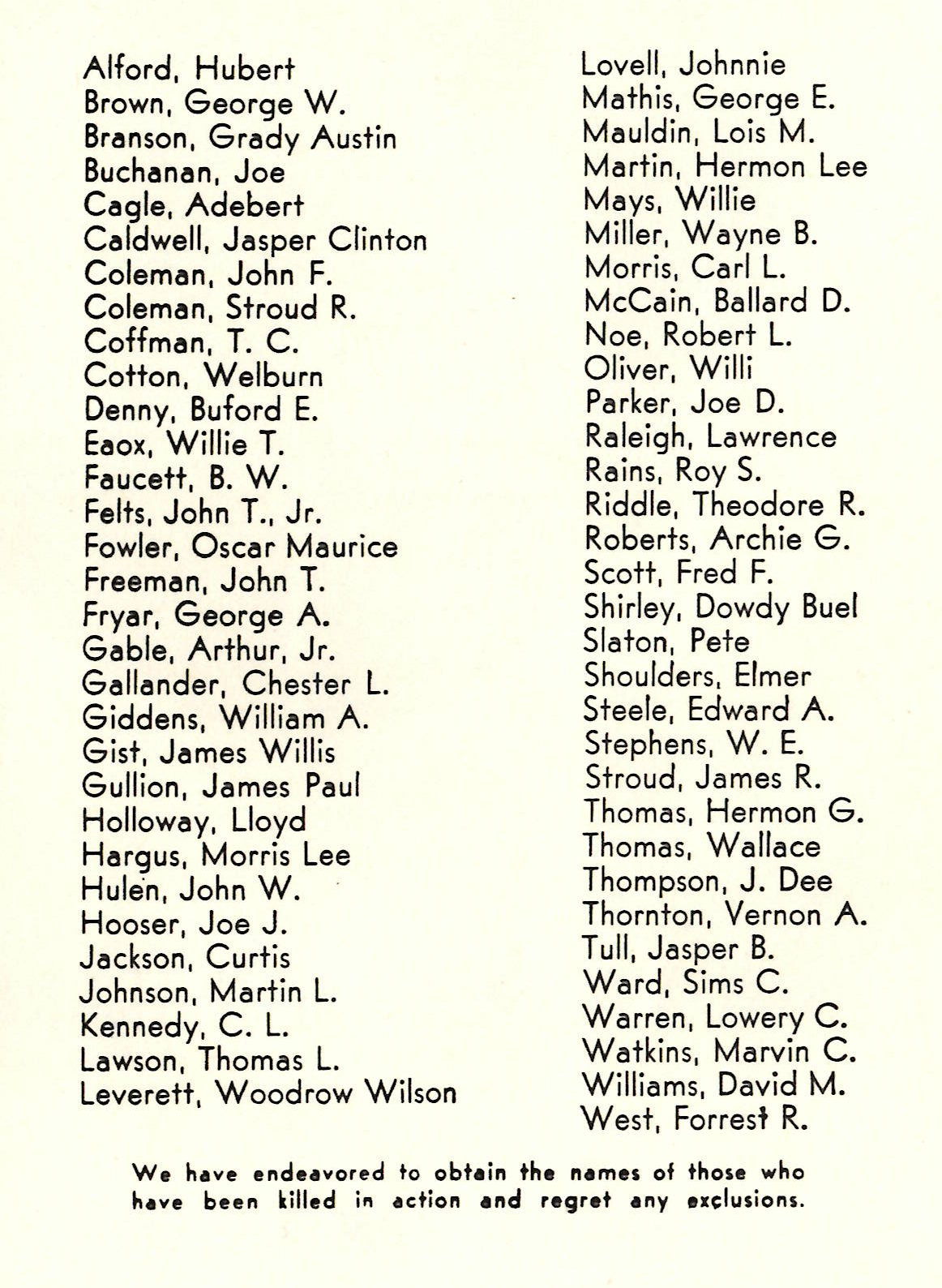 Men and women in the Armed Forces from Red River County Texas WW2 WWII World War Two 2 II 11 !! Killed in Action KIA