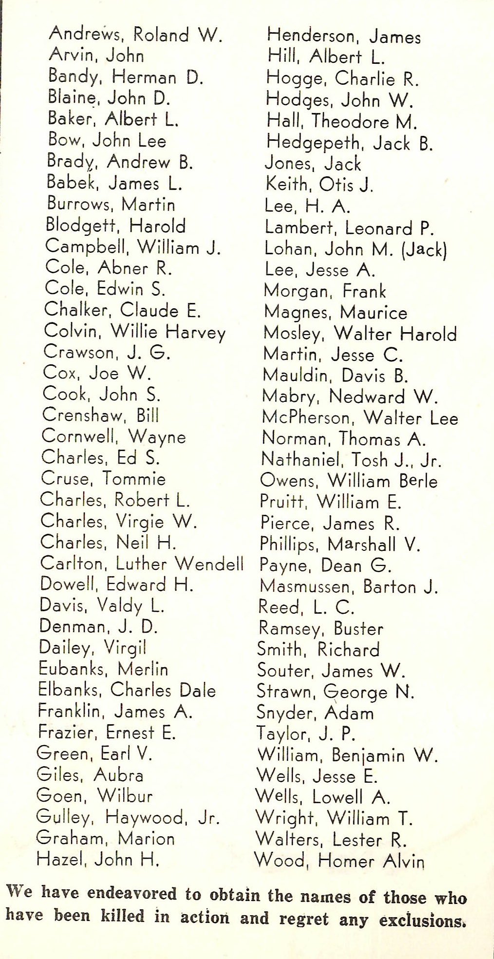 Men and women in the Armed Forces from Stephens County Texas World War Two WW2 WWII KIA Killed in Action