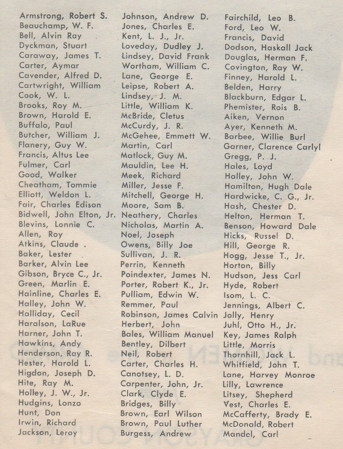 Men and women in the Armed Forces from Grayson County Texas Killed in Action