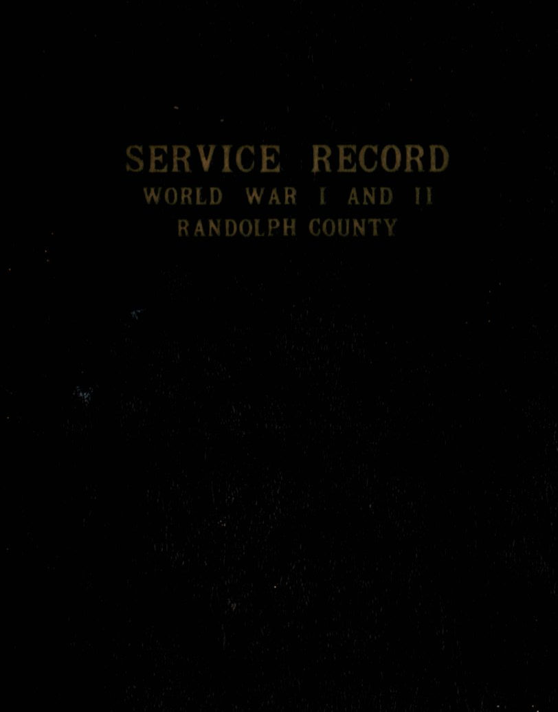 Service Record World War I & II Randolph County Alabama